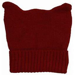 Topheadwear Cute Adventure Ears Rib Knit Beanie, Adult Unisex, Size: One Size, Red