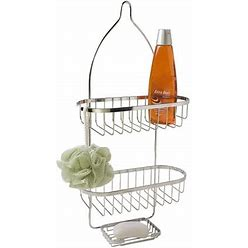 Chrome Plated Steel Shower Caddy, Silver