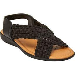 Comfortview Women's Wide Width The Celestia Sling Sandal Sandal, Size: 7 1/2 W, Black