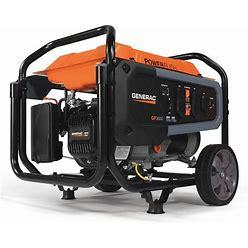 Generac Portable Generator, Conventional, Generator Fuel Type Gasoline, Generator Rated Watts 3,600 W Model: 7677
