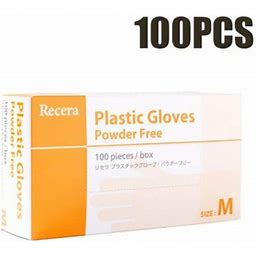 Medical Gloves, Examination Gloves 100pcs, Disposable Latex Free, Powder Free, Textured, Disposable, Non-Sterile, Men's, Size: One Size