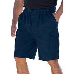 Boulder Creek By Kingsize Men's Big & Tall Renegade 9 Inch Full Elastic Waist Single Pocket Cargo Shorts, Size: Tall - 6XL, Blue