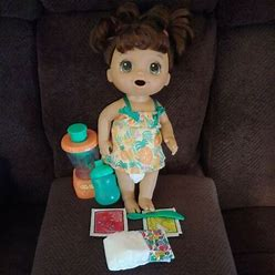 Baby Alive Magical Mixer Baby Doll Tropical Treat W/Accessories