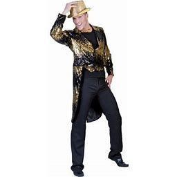 Gold Glitter Tailcoat Adult Halloween Costume, Men's, Size: 42-44