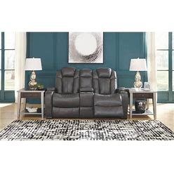 Turbulance Collection 8500118 Power Reclining Loveseat With Adjustable Headrest In Quarry