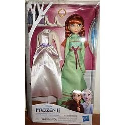 Disney Frozen Arendelle Fashion Anna Fashion Doll With 2 Outfits By