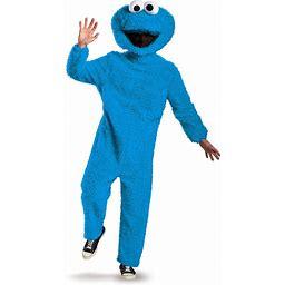 Disguise Men's Full Plush Cookie Monster Prestige Adult Costume