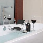 Rebrilliant European Style Metal Chrome Extendable Bathtub Caddy W/2 Wineglass Holders, Book Stand & Candleholder In Gray   Wayfair