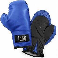 Pure Boxing Kids Boxing Gloves In Blue - Pure Boxing - Exercise Boxing & Mma - 2 - Blue