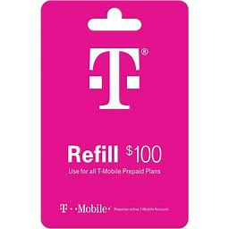 T-Mobile Refill Egift Card - $100 (Email Delivery)