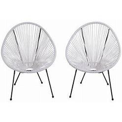 Highlanderhome Indoor/ Outdoor Retro Woven Acapulco Chair
