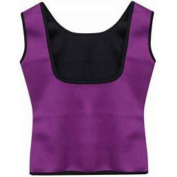 Multitrust Women Sweat Sauna Body Shaper Neoprene Vest Slimming Waist Trainer Shapewear Hot, Size: XL, Purple