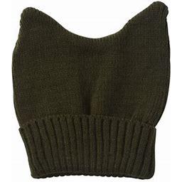 Topheadwear Cute Adventure Ears Rib Knit Beanie, Adult Unisex, Size: One Size, Green