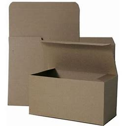 Jam Open Lid Gift Box, 12X6x6, Kraft Recycled, 1/Pack, Size: 12 X 6 X 6