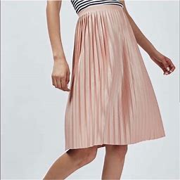 Topshop Skirts   Topshop Tall Pleated Midi Skirt   Color: Pink   Size: 12