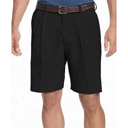 Tommy Bahama New Solid Black Mens Size 35 Pleated Front Dress Shorts, Men's