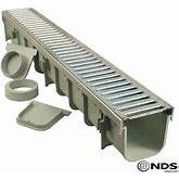 NDS - 864GMTL - 5' Pro Series Channel Drain Kit W/ Metal Grate