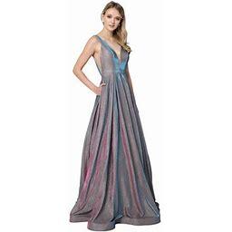 Formal Dress Shops Red Carpet Metallic Formal Dress, Women's, Size: XS, Blue