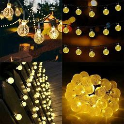 Fairy Lights, 3M 20 Leds Globe String Lights With Remote, Indoor Outdoor Garden Lights For Christmas, Bedroom, Holiday And Wedding Decor - Warm White,