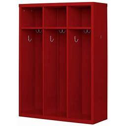 Open Front Kids Locker Red