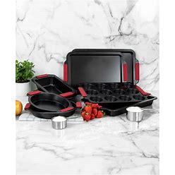 Hell's Kitchen 8-Pc. Nonstick Bakeware Set - Black