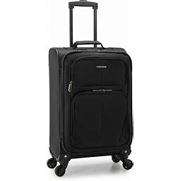 U.S. Traveler Aviron Bay Expandable Softside Luggage With Spinner Wheels, Black, Carry-On 23-Inch