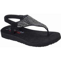 Skechers Meditation New Moon Thong Sandal (Women's), Size: 8 Medium, Black