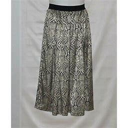 Joan Rivers Petite Tapestry Maxi Skirt Size 1xp Gold/black