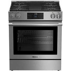 """BGR30420SS 30"""" Slide-In Gas Range With 4 Burners 5.7 Cu. Ft. Oven Capacity Convection Porcelain Top And Self-Cleaning Oven In Stainless"""