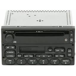 Ford Trucks 1998-2010 AM FM CD Cassette Radio W Auxiliary Input Yu3f-18C868-Aa - Refurbished, Black