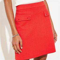 Loft Skirts | Loft Tall Skirt | Color: Red | Size: S