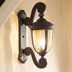 """Bellagio 24"""" High Bronze Dual Scroll Arm Outdoor Wall Light - Style 40276"""