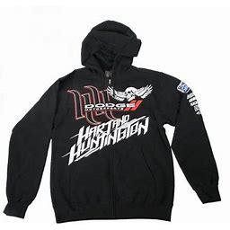Hart And Huntington Dodge Motorsports Black Main Team Fleece Jacket Medium, Men's