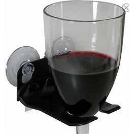 Wavehooks Dining   Wavehooks. Bathtub Wine Glass Holder. New In Box   Color: White   Size: Os