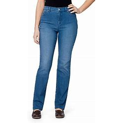 Gloria Vanderbilt® Amanda Jeans   Blue   Womens 16   Jeans Straight Leg Jeans   Stretch Fabric