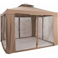 Goplus 10 X 10 Ft Canopy Gazebo Tent Shelter W/Mosquito Netting Outdoor Patio   OGY02575