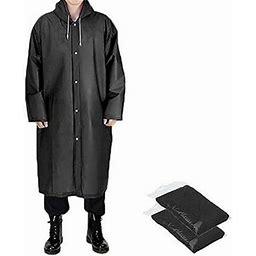 Wallarenear Hot Raincoat Waterproof Rain Jacket Outdoor Womens Mens Hooded Long Coat Unisex, Women's, Size: One Size, Gray