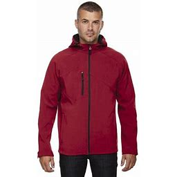 North End Prospect Men's Soft Shell Jacket With Hood 88166, Size: Medium, Red