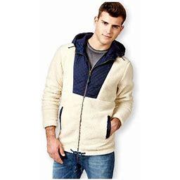 American Rag Mens Fuzzy Feeling Fleece Jacket, Men's, Size: Medium, Beige