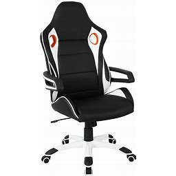 Techni Mobili Racing Style Home & Office Chair, Black