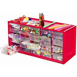Arts & Crafts Supply Center Complete With 20 Filled Drawers Of Craft Materials, .