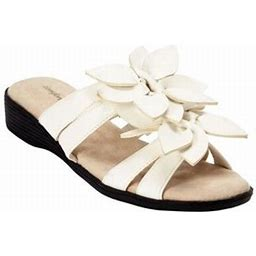 Comfortview Women's Wide Width The Paula Sandal Sandal, Size: 7 W, White
