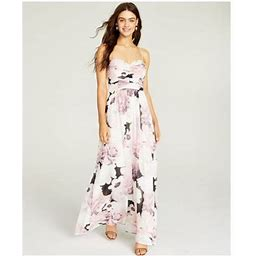 Trixxi Womens Pink Floral Spaghetti Strap Sweetheart Neckline Full-Length Fit + Flare Formal Dress Size 13, Women's
