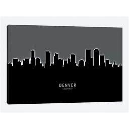 Denver Colorado Skyline Canvas Print Wall Art By Michael Tompsett