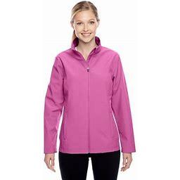 Team 365 Ladies Leader Soft Shell Jacket, Style Tt80w, Women's, Size: Medium, Pink