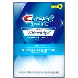 Crest 3D White Whitestrips Classic Vivid Teeth Whitening Kit, 10 Treatments, Size: 10