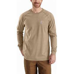Carhartt Men's Flame-Resistant Force Long-Sleeve T-Shirt   Khaki   M