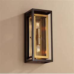 "Possini Euro Kie 14"" High Bronze Outdoor Wall Light - Style 70D94"