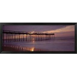 Framed Pier Over An Ocean, Ocean City, Maryland, USA Art Print By Panoramic Images - Framedart.Com