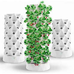 Hydroponics Tower Aquaponics Grow System | Garden Tower Aeroponics Growing Kit For Indoor & Outdoor - Herbs, Fruits And Vegetables - Hydrating Pump,